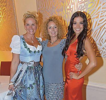 Claudia Effenberg, Regina Foltynek und Carmen Stamboli bei der Sportgala Hofburg Wien