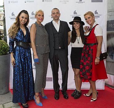 Eröffnung LUXUSLASHES® Lounge Wien 1, Ronja Hilbig, Natascha Ochsenknecht, Fernanda Brandao, Claudia Effenberg