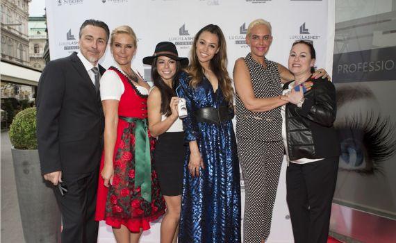 Eröffnung der Luxuslashes Lounge in Wien 1